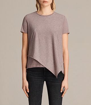 Donne T-shirt Daisy Stripe (PETAL PINK/BLACK)