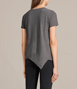 Donne T-shirt Daisy Stripe (WASHEDBLACK/OYSTER) - product_image_alt_text_3