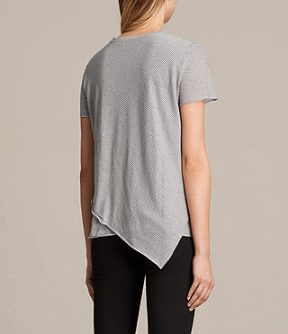 Women's Daisy Stripe Tee (CHALK/SMOKE NAVY) - product_image_alt_text_3
