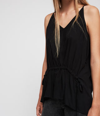 Womens Isabel Top (Black) - Image 2