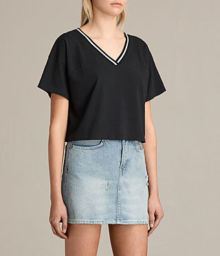 Donne T-shirt Breeze Contrast (Black/Chalk) - product_image_alt_text_3