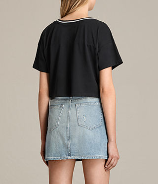 Donne T-shirt Breeze Contrast (Black/Chalk) - product_image_alt_text_4