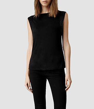 Womens Nela Top (Jet Black)