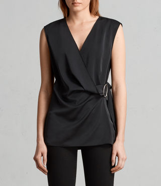 Womens Callie Top (Black) - Image 1