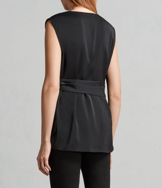 Womens Callie Top (Black) - Image 4