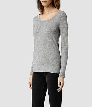 Womens Stam Long Sleeved Top (Washed Black) - product_image_alt_text_2