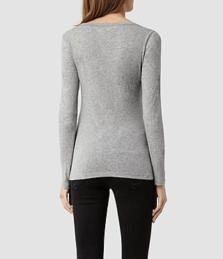 Femmes Stam Long Sleeved Top (Jet Black) - product_image_alt_text_3