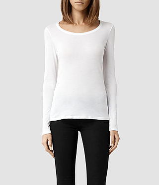 Womens Stam Long Sleeved Top (Optic) - product_image_alt_text_1