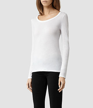 Womens Stam Long Sleeved Top (Optic) - product_image_alt_text_2