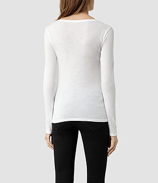 Womens Stam Long Sleeved Top (Optic) - product_image_alt_text_3