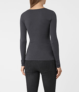 Womens Stam Long Sleeved Top (Washed Black) - product_image_alt_text_3