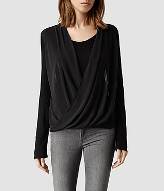 Womens Riley Top (Black)