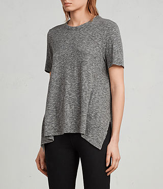 Donne T-shirt Rosa Flame (Grey Marl) - Image 3