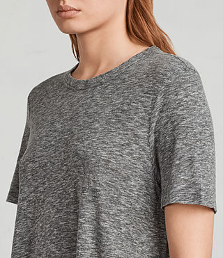 Donne T-shirt Rosa Flame (Grey Marl) - Image 4
