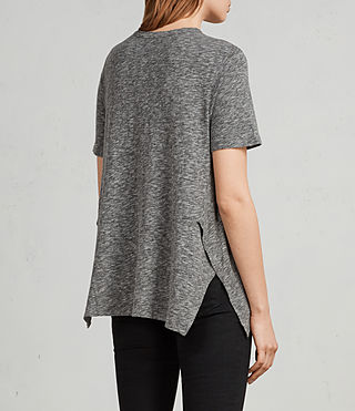 Donne T-shirt Rosa Flame (Grey Marl) - Image 5