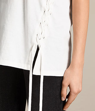 Donne T-shirt Aisla Laced (Chalk White)