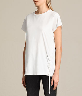 Damen Aisla Laced Tee (Chalk White) - product_image_alt_text_3
