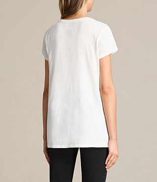 Womens Aisla Laced Tee (Chalk White) - Image 4