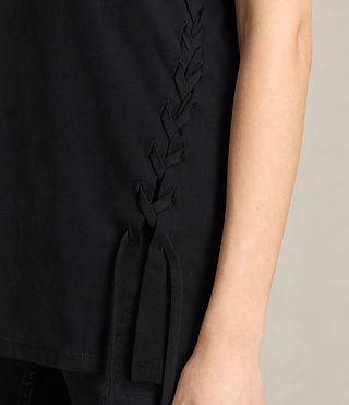 Damen Aisla Laced T-Shirt (Black) - product_image_alt_text_2