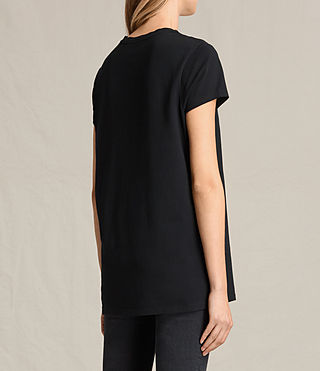 Damen Aisla Laced T-Shirt (Black) - product_image_alt_text_4