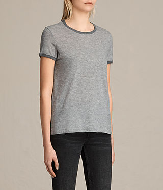 Damen Maicy Stripe Tee (GREY MARL/NUDE) - product_image_alt_text_2