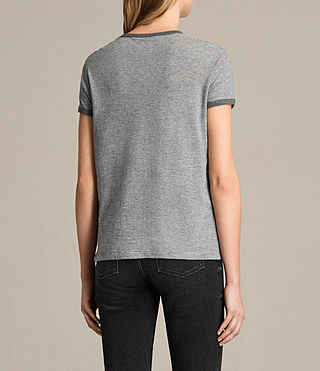 Damen Maicy Stripe Tee (GREY MARL/NUDE) - product_image_alt_text_3