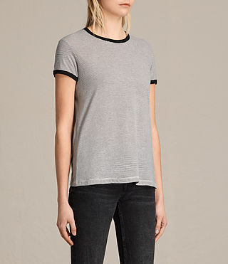 Women's Maicy Stripe Tee (CHALK/SMOKE NAVY) - product_image_alt_text_2