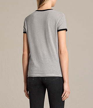 Women's Maicy Stripe Tee (CHALK/SMOKE NAVY) - product_image_alt_text_3