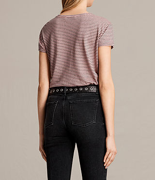 Womens Anja Stripe Tee (PINK/WASHED NAVY) - product_image_alt_text_4