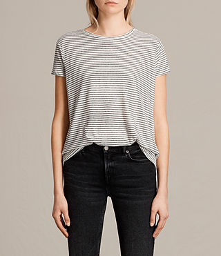 Damen Anja Stripe Tee (CHALK/NAVY BLUE)