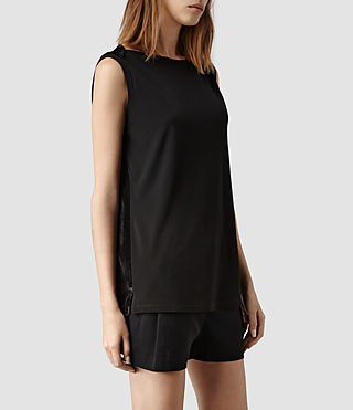 Womens Verso Top (Black/Liquorice)