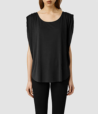 Womens Silo Top (Washed Black)