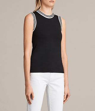 Womens Diana Top (Black) - product_image_alt_text_2