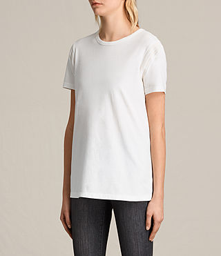 Womens Ley Tee (Chalk White) - product_image_alt_text_3