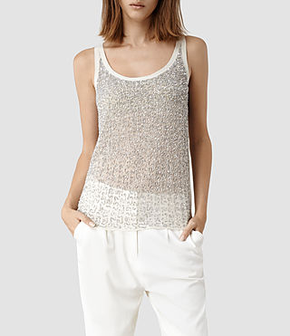 Womens Stipple Tank (Oyster)