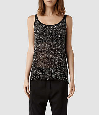 Womens Stipple Tank (Gunmetal)