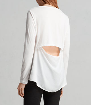 Womens Nadia Long Sleeve Tee (Chalk White) - Image 3