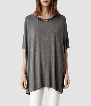 Womens Itita T-Shirt (Charcoal) - product_image_alt_text_1