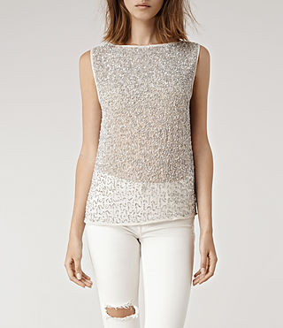 Womens Stipple T-shirt (Oyster)