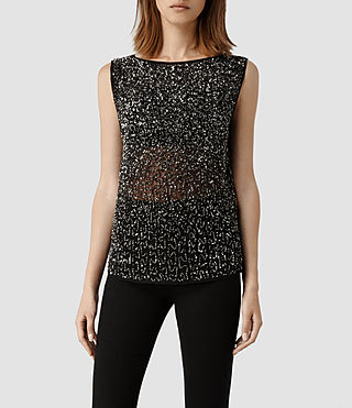 Womens Stipple T-shirt (Gunmetal)