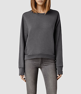 Womens Cari Leather Sweat (Shadow)