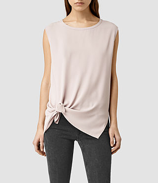 Womens Heny Top (Dusty Pink)