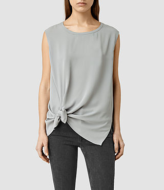 Womens Heny Top (Steel Grey)