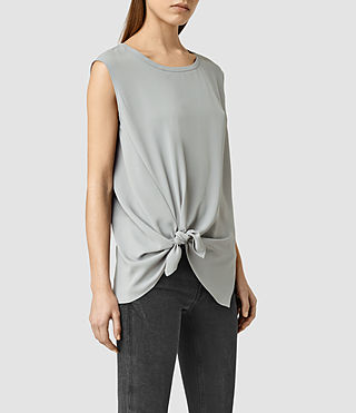 Femmes Heny Top (Steel Grey) - product_image_alt_text_2