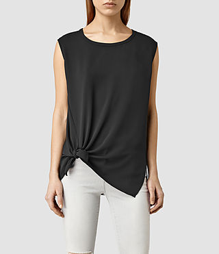 Womens Heny Top (Black)