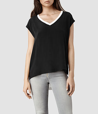 Womens Rhoda Top (Chalk/Black)