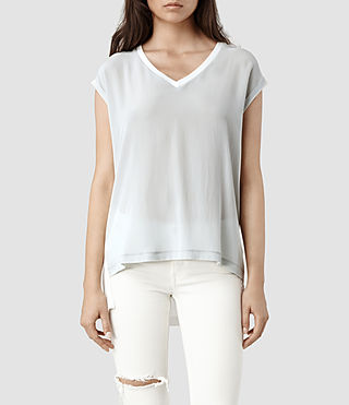 Womens Rhoda Top (Chalk/Ice)
