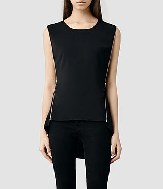 Womens Ophelia Top (Black)