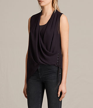 Womens Ali Laced Top (Maroon) - product_image_alt_text_2
