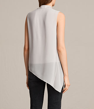 Women's Ali Laced Top (Stone Grey) - product_image_alt_text_4